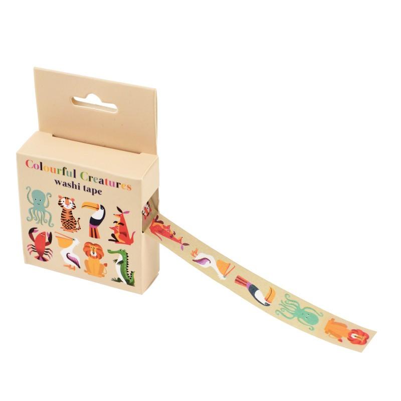 Washi paper Animaux colorés