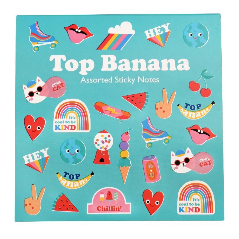 Bloc mémo adhésif Top banana