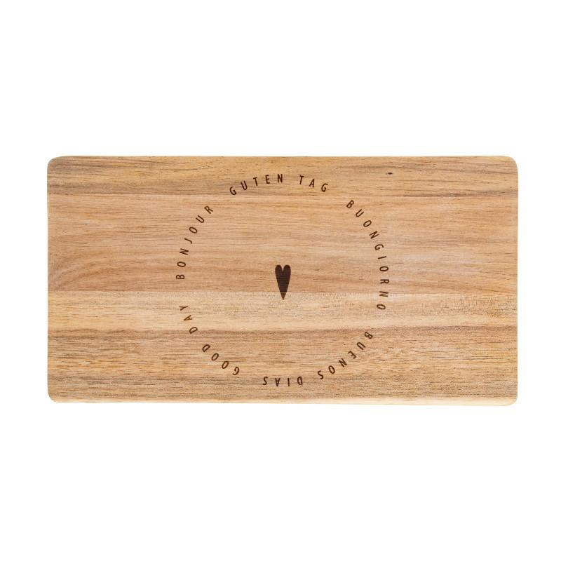 Petit plateau déjeuner en bois