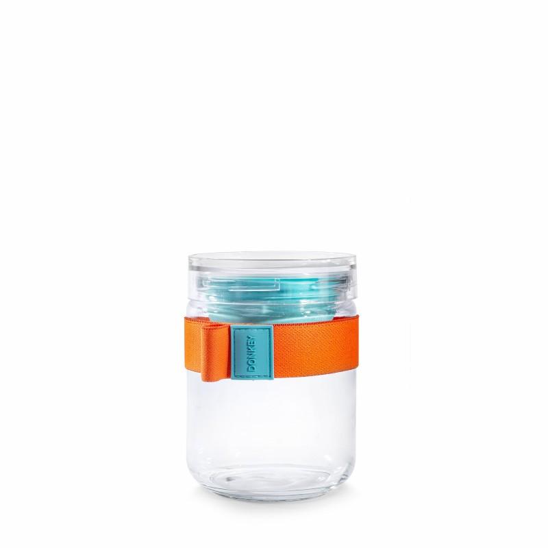 Bocal repas en verre orange...