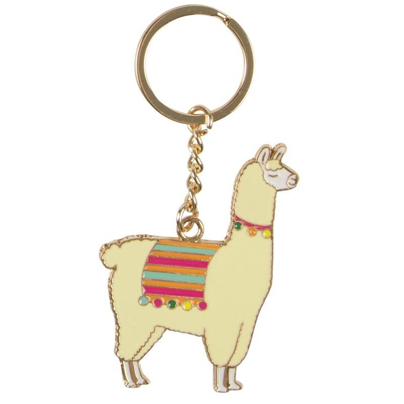 Porte clés Lama métal