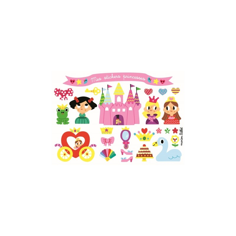 Carte stickers Princesses