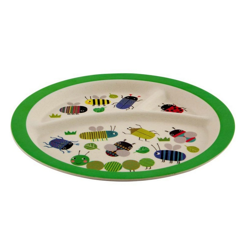 Assiette bambou Insectes