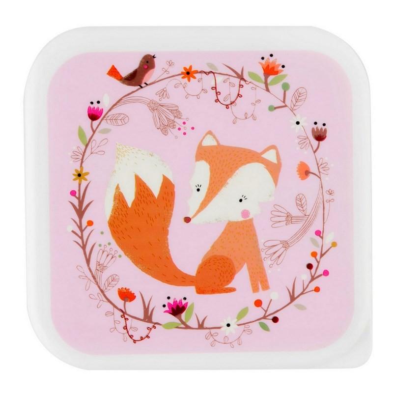 Boîte à lunch forêt rose