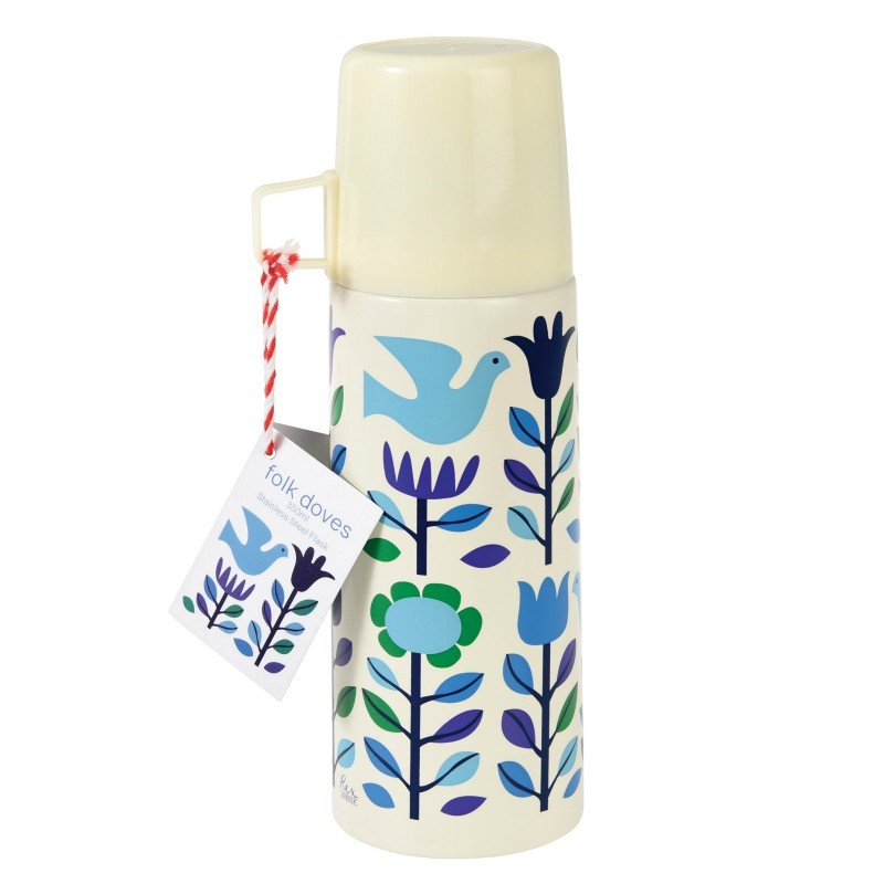 Thermos Colombes bleues