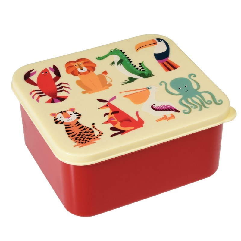 Boîte à lunch Animaux colorés