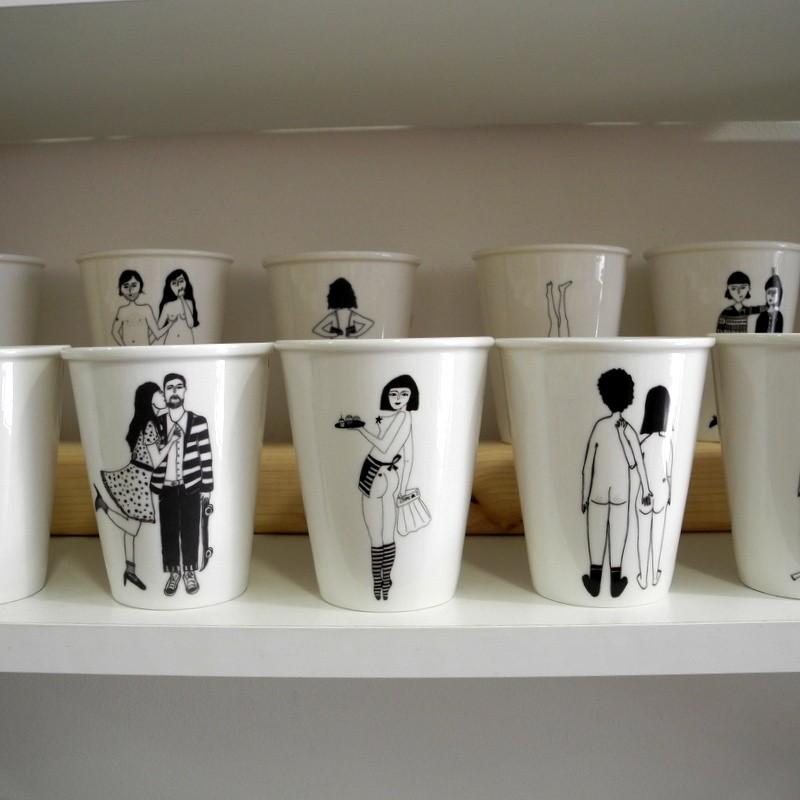 Tasses en porcelaine Helen...