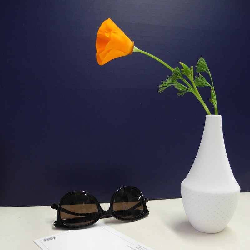 Vase haut blanc à relief...