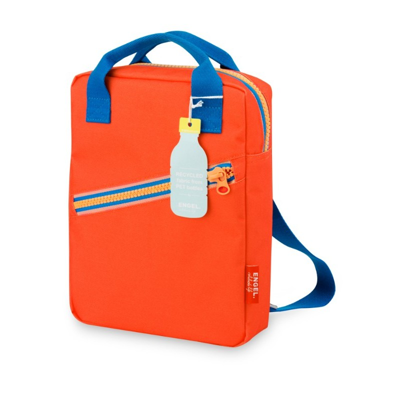 Petit sac à dos zippé rouge