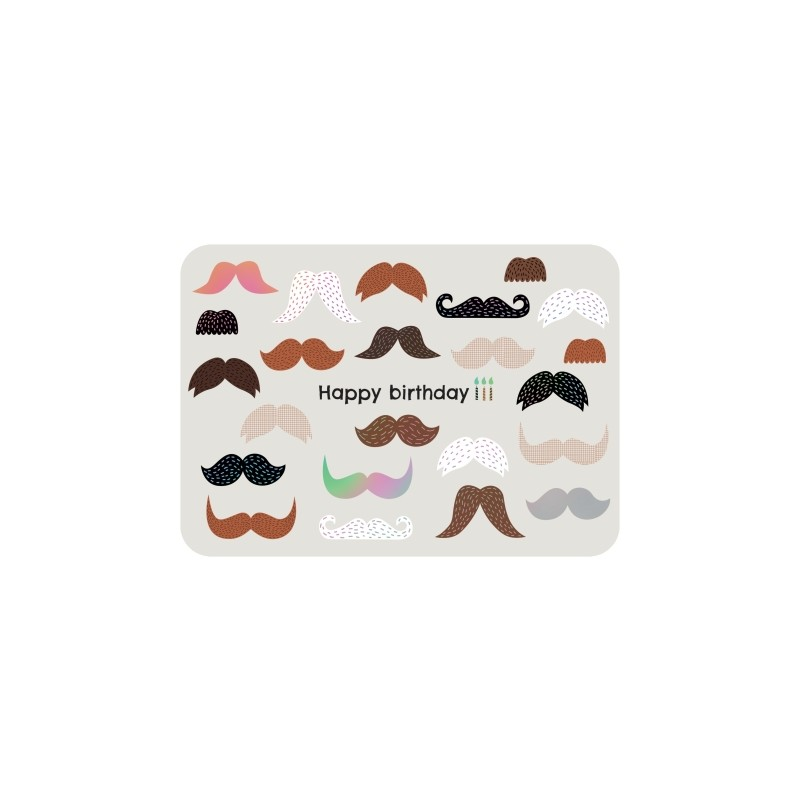 Carte anniversaire Moustaches