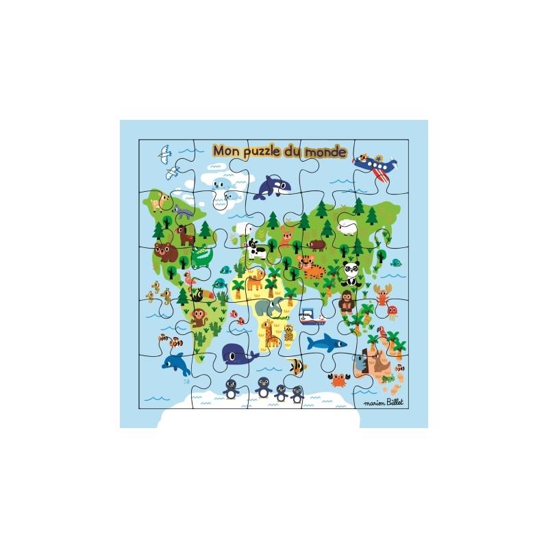 Carte puzzle Monde