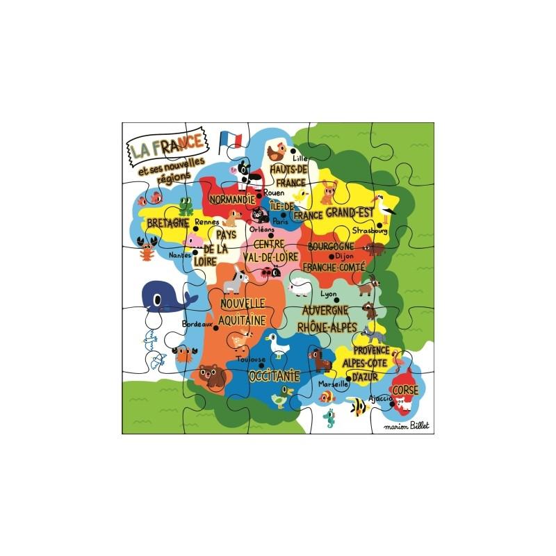 Carte puzzle régions de France