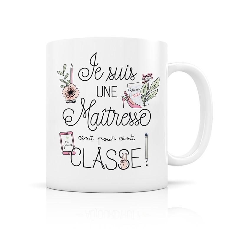 Mug Maîtresse classe