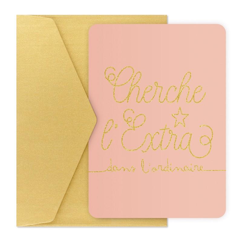 Carte et enveloppe Extra