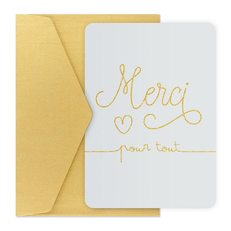 Carte et enveloppe Merci