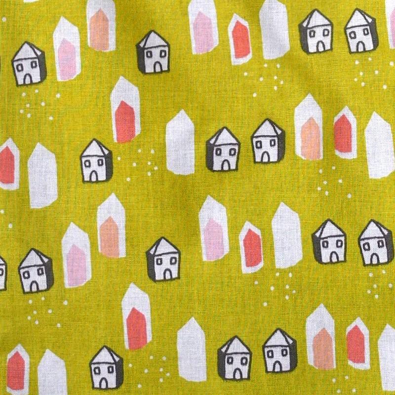 Tissu Maison jaune
