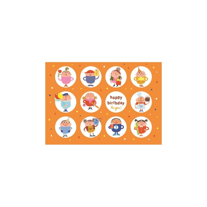 Carte stickers Happy birthday