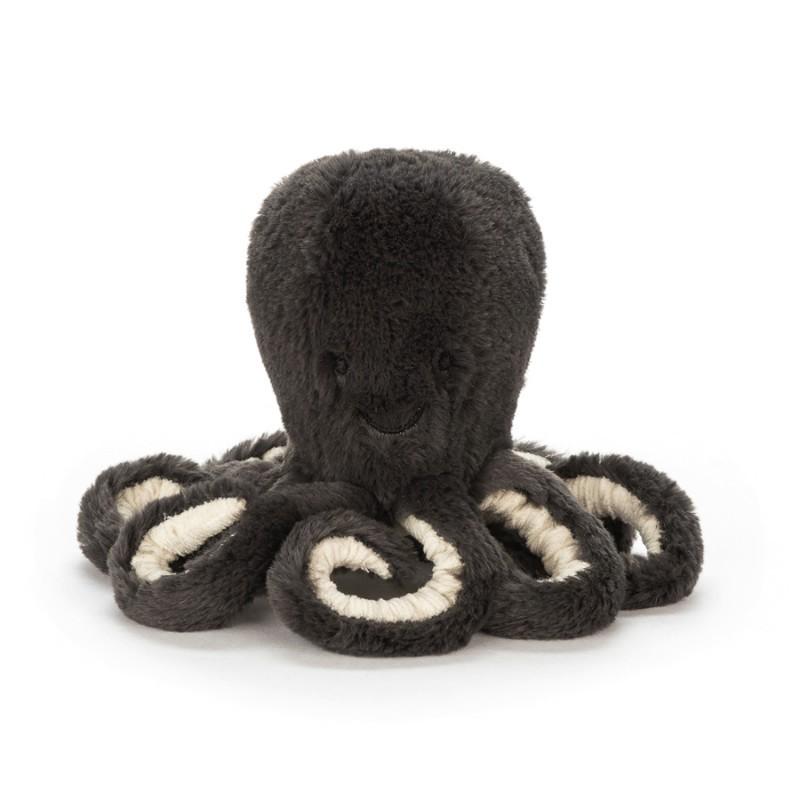 Petite peluche pieuvre grise