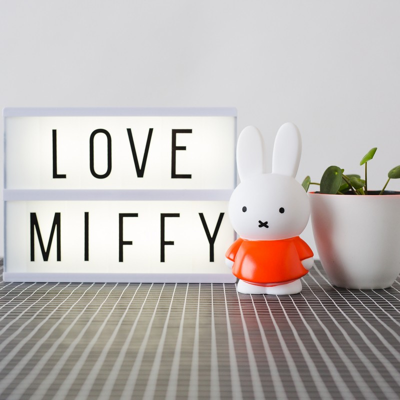 Miffy petite tirelire orange