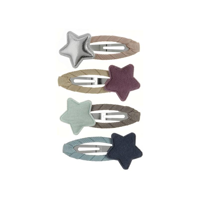 Lot de 4 Barettes étoiles...