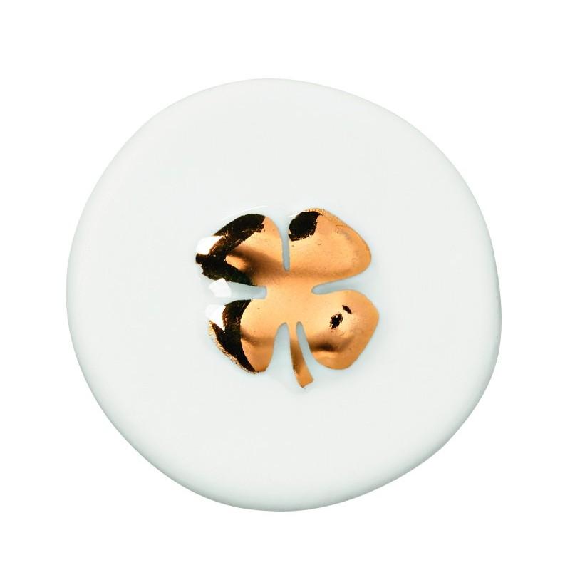 Pièce en porcelaine Trèfle...