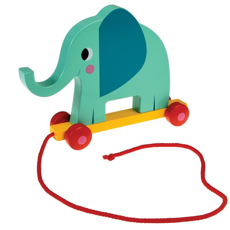 Jouet à tirer Elvis l'éléphant
