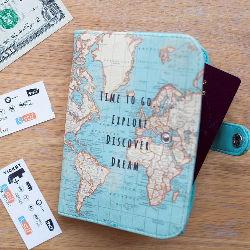 Housse pour passeport Carte...