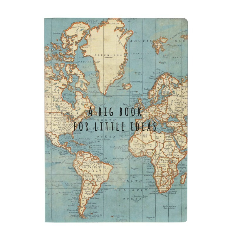 Carnet A5 World map