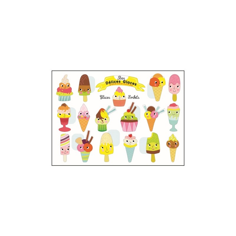 Carte stickers Glaces
