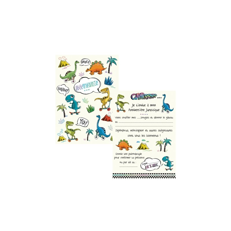 Lot de 8 cartes invitations...