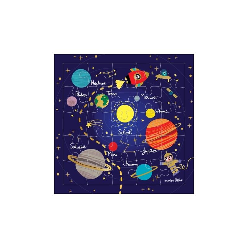 Carte puzzle système solaire