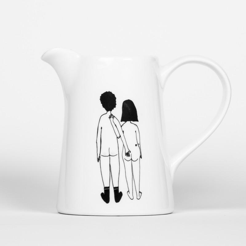 Pichet en porcelaine couple...