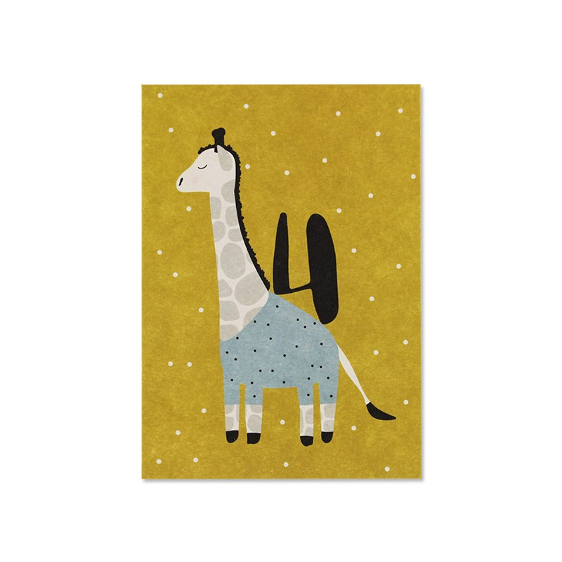 Carte simple Girafe 4 ans