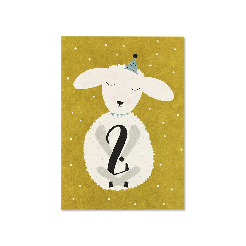Carte simple Mouton 2 ans