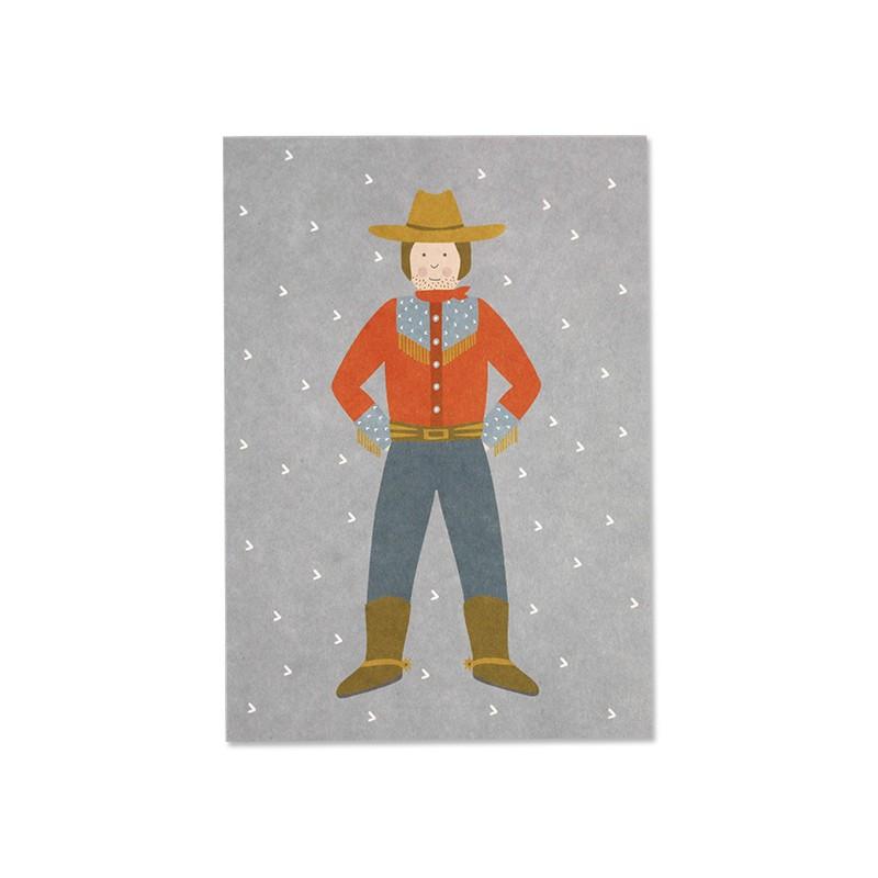 Carte simple Cowboy