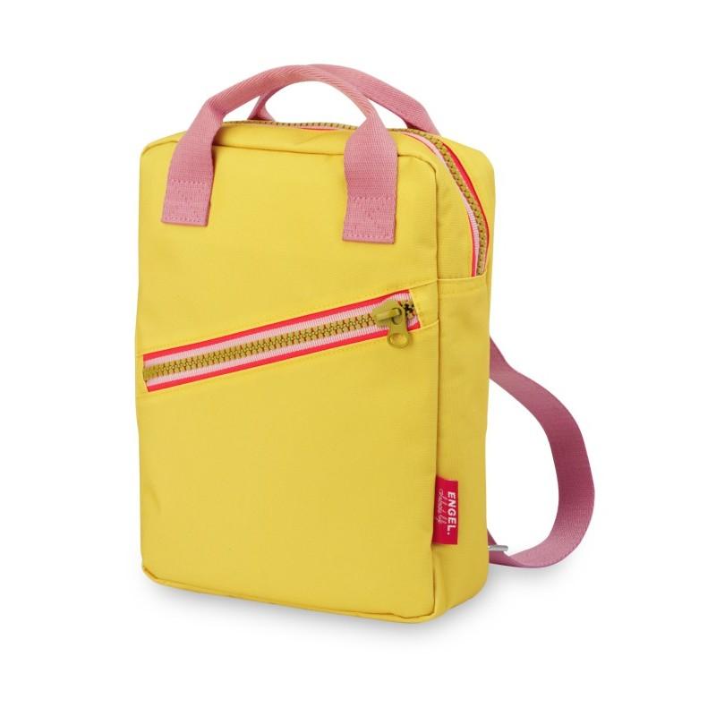 Petit sac à dos zippé jaune