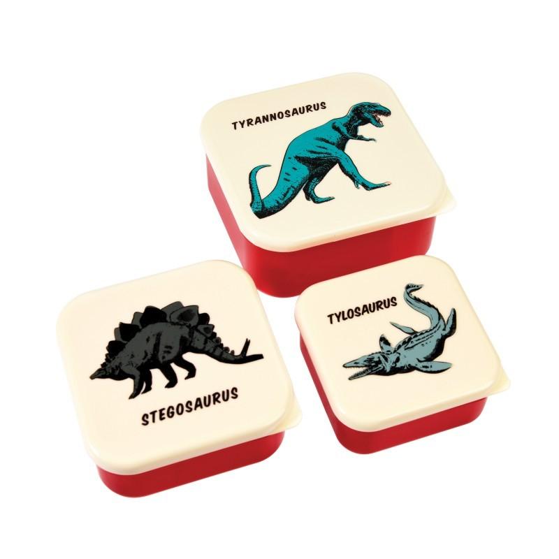 Lot de 3 boîtes Dinosaures