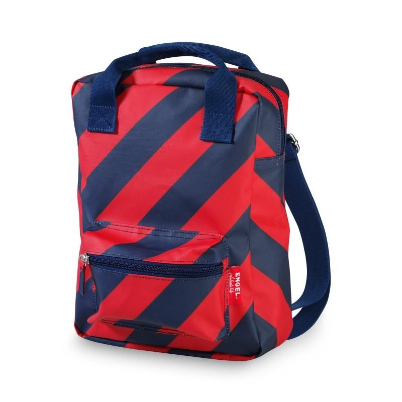Petit sac à dos rayé rouge