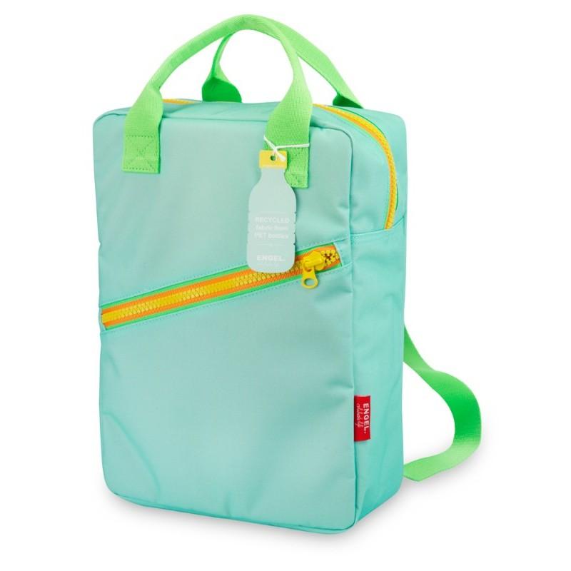 Grand sac à dos zippé bleu