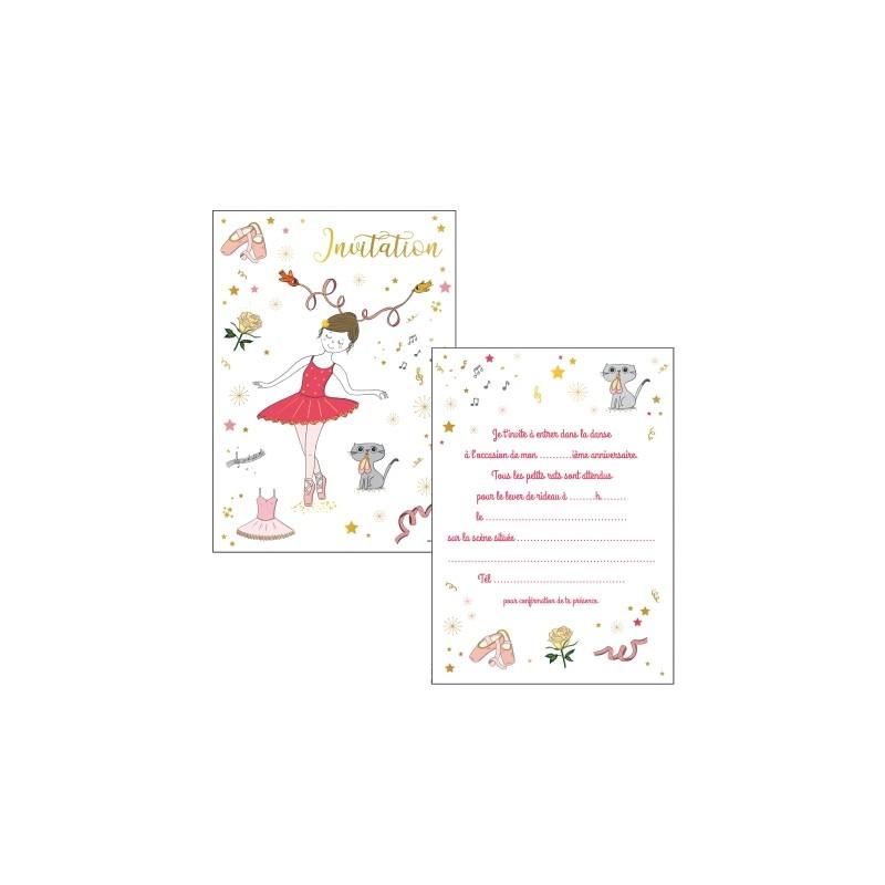 Lot de 8 cartes invitations...