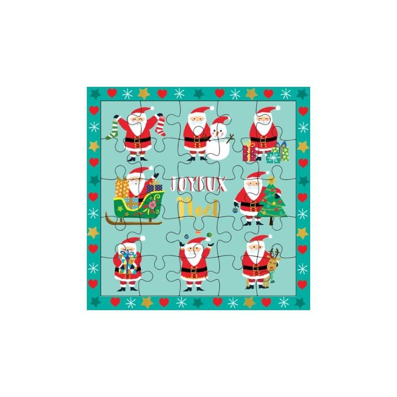 Carte puzzle Joyeux Noël