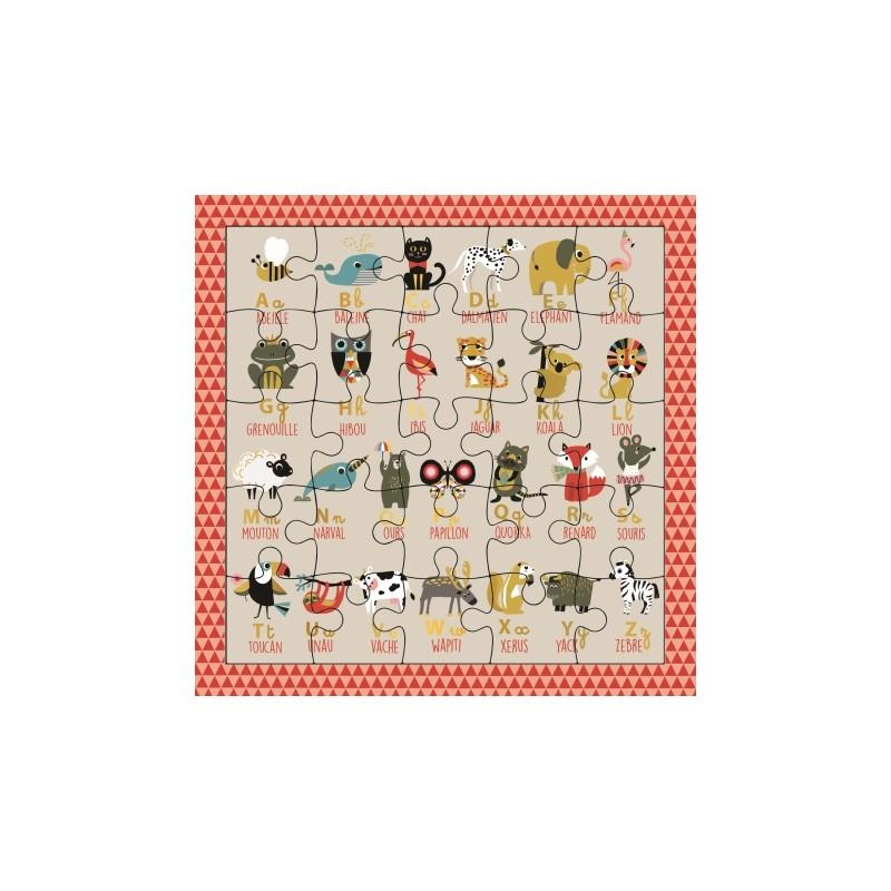 Carte puzzle Alphabet