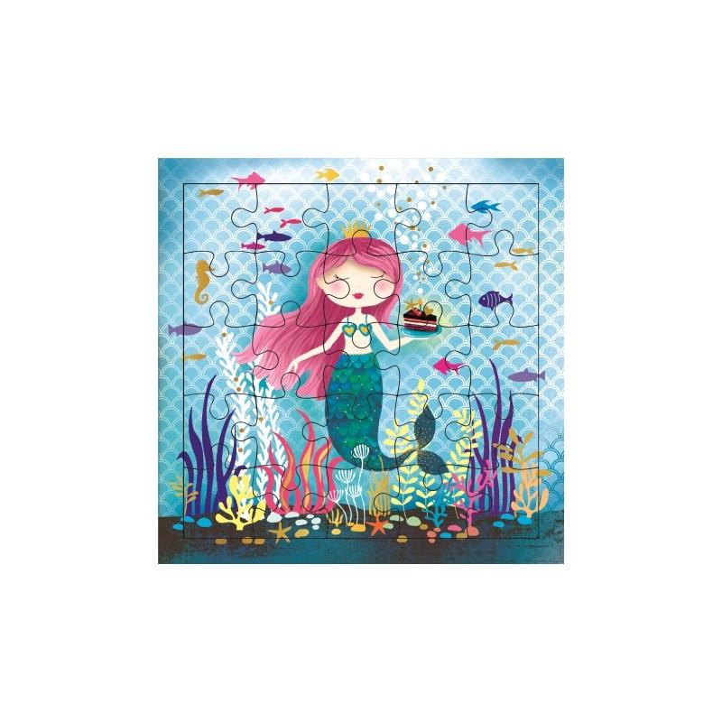 Carte puzzle Sirène