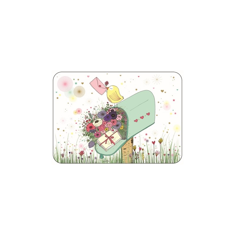 Carte boîte aux lettres fleurs