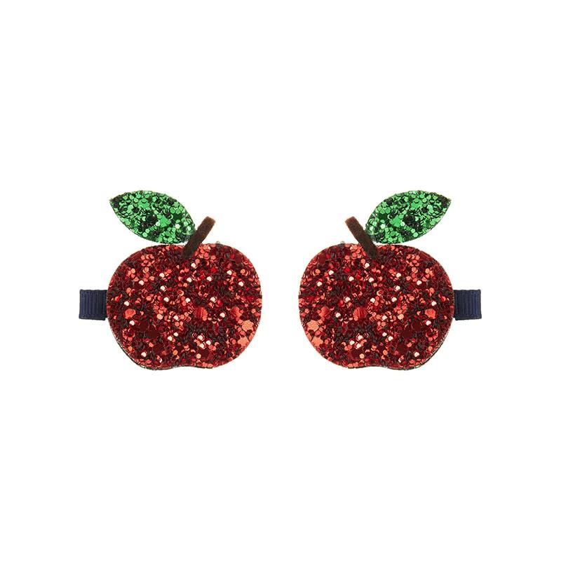 Lot 2 barrettes pommes à...