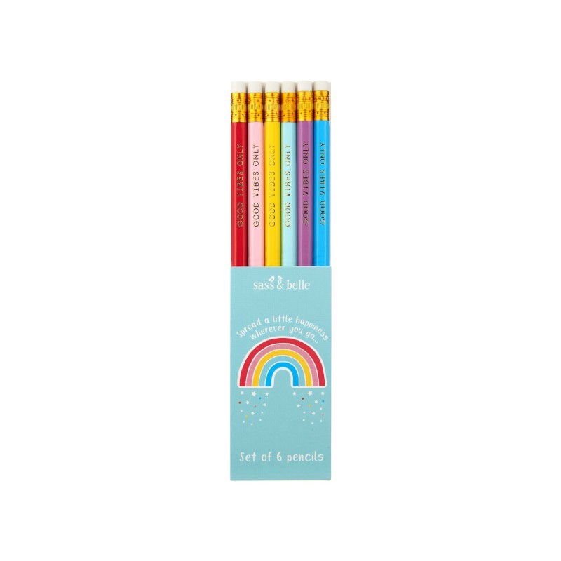 Lot de 6 crayons de bois...