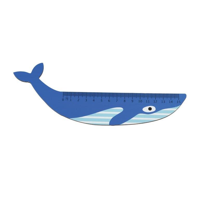 Règle en bois Baleine bleue