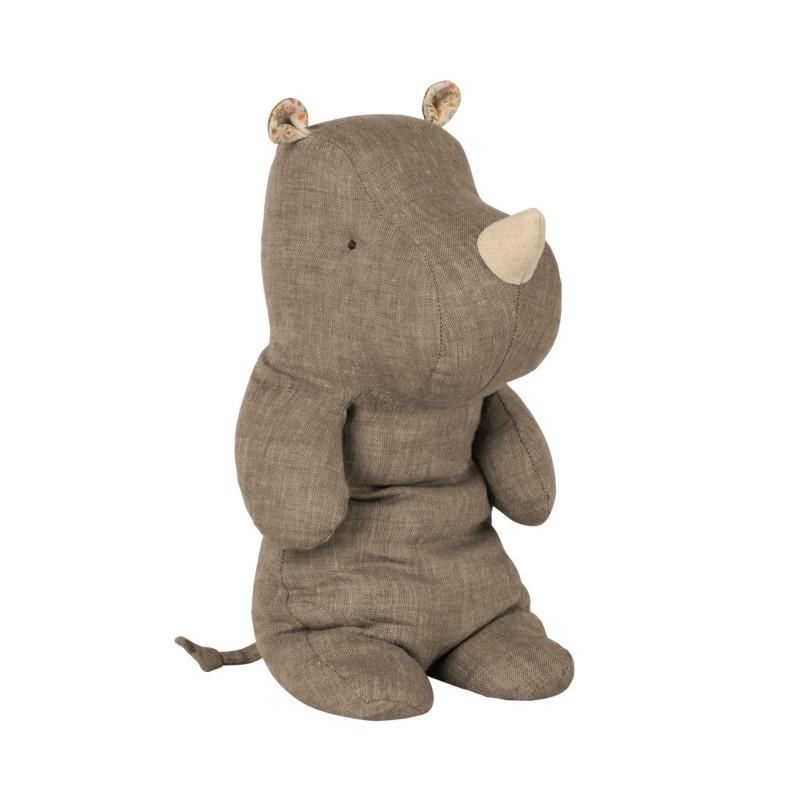 Doudou Rhino gris médium