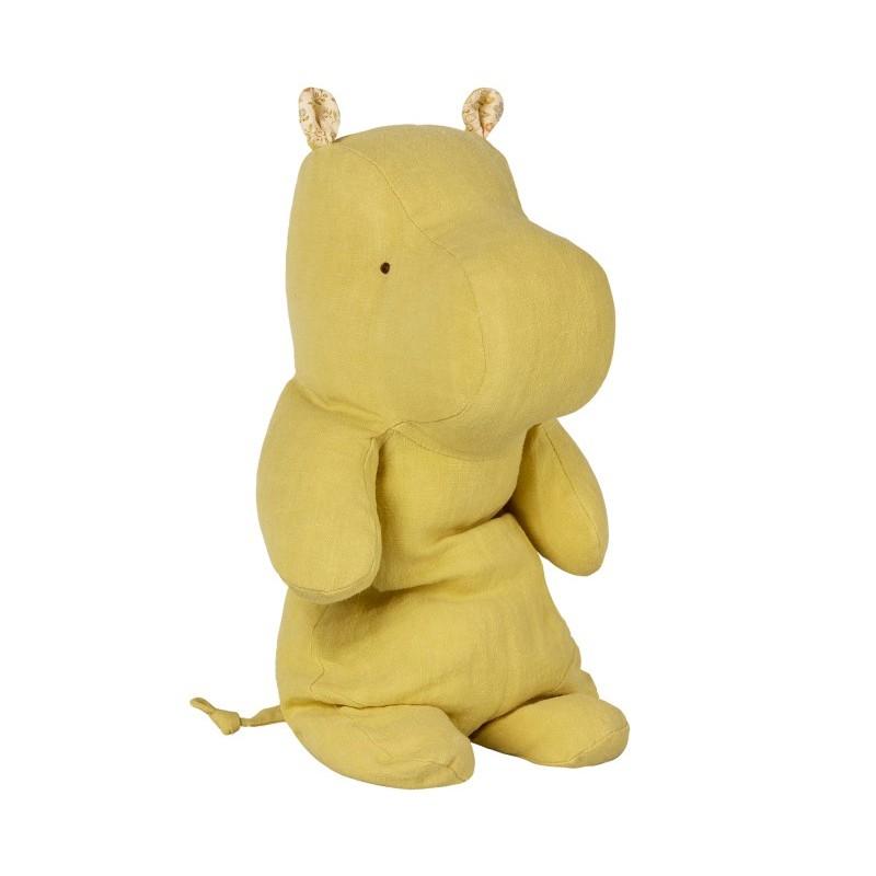 Doudou Hippo jaune médium