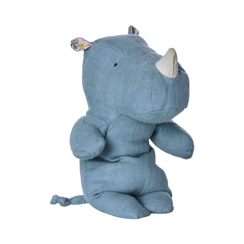 Petit doudou Rhino bleu